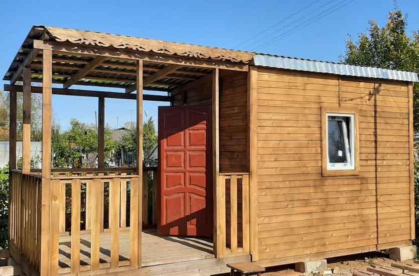 Строительство дачного домика с верандой