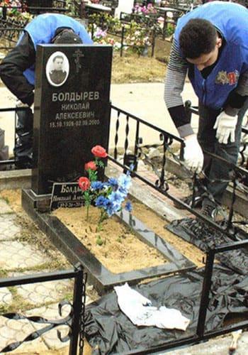 Уборка могил в Лихославле